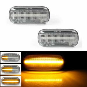 Dynamic Flowing LED Side Marker Blinker Amber Light For 07-11Audi TT 8J A3 A4 A6