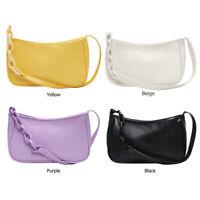 Mode Weiches PU Leder Damen Handtasche Elegant Pure Klein Achsel Schultertaschen