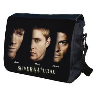 Supernatural Sam Dean Castiel School Bag College Messenger Bag
