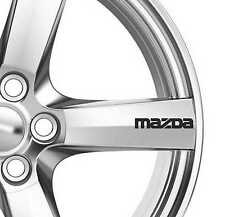 6x Mazda Alloy Wheels Decals Stickers Adhesives Premium Quality 2 3 6 7 RX RX7
