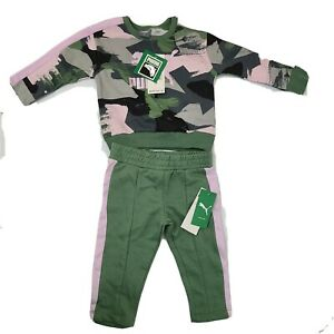 PUMA Baby Girls 12 month Pieces Athletic Pullover Hoodie Sweatshirt Jogger Set