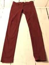 Hollister Burgundy Super Skinny Jeans Women's Stretch Junior Size 5 Or 27 X 30