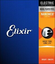 Elixir NANOWEB Electric Guitar Strings - 6 & 12 String sets with choice of Gauge