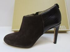 Michael Kors Size 6.5 Brown Leather Bootie Heels New Womens Shoes