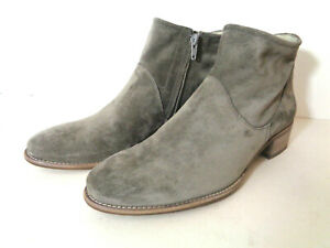 PAUL GREEN Addison UK 6 US 8.5M Gray Suede Leather Short Bootie AUSTRIA