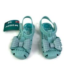 ZAXY Toddler Girl Green Picnic Mary Jane Bow Front Sandal 10 New