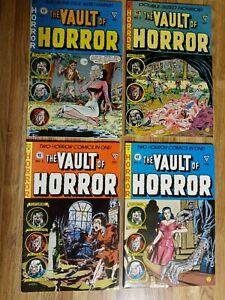 EC Comics the Vault of Horror Lot Gladstone 1990 Reprints issues 2,3,4, and 5