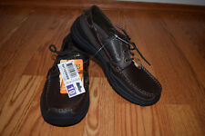 NEW Mens SKECHERS Relaxed Fit Brown Leather Memory Foam Shoes Size 8