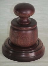 GAVEL AND SOUNDING BLOCK WOODEN PALM POCKET IN QUALITY MAHOGANY WOOD