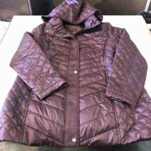 NWOT Andrew Marc WOMEN Quilted Hooded Jacket