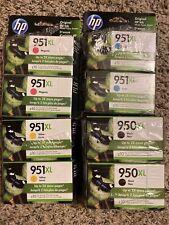8 HP 950XL Black/Cyan/Magenta/Yellow Ink Cartridges