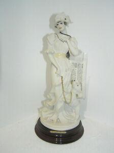 GIUSEPPE ARMANI LADY WITH POODLE FIGURINE DEAR FRIENDS 0532 - F APPROX 26cm high