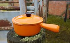 VINTAGE LE CREUSET SAUCEPAN WITH LID - VOLCANIC ORANGE - 16 CM - KITCHEN POT