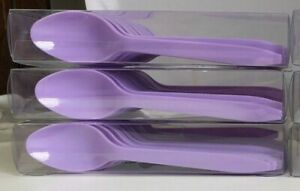 3 Spritz All Occasions Party Spoons 20 Count Plastic Purple Lavender 60 Total