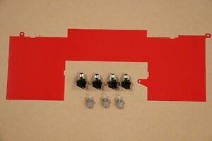 1984-1989 Corvette Dash Cluster monochrome RED color lens LED upgrade kit