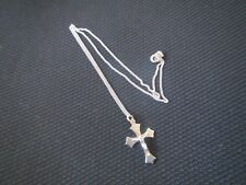 Silver Crucifix & chain necklace - Vintage early 1950s