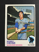 Bob Bobby Heise Brewers Signed 1973 Topps Baseball Card High #547 Auto Autograph
