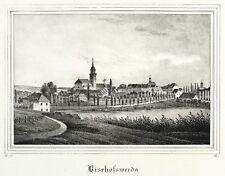 Bischofswerda-vista general-Saxonia-litografía 1837