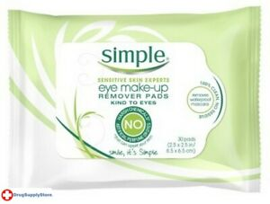 BL Simple Eye Make-Up Remover Pads 30 Count - Two PACK