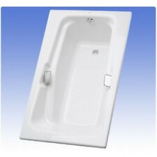 TOTO FBY1800P-01 Cotton 6 Foot Cast Iron Drop In Soaking Tub