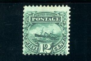 USAstamps Unused FVF US 1869 Pictorial Issue S.S. Adriatic Scott 117 NH Grilled