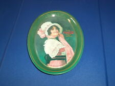 Vintage Oval Coke Coca Cola Tin Metal Serving Tray Platter 1914 Betty Girl 1970s