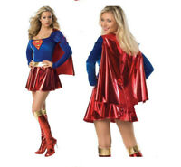 Superwoman Halloween Costume Supergirl Superhero Wonder Woman Fancy Dress