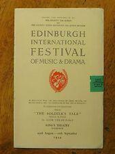 The Soldier's Tale - Stravinsky, Edinburgh Festival programme, 1954, Helpmann