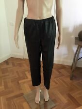 FEATHERS Black Leather Look Pants Elastic Waist Waist XS New Without Tags