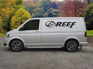 Huge Reef Surf Van Vinyl Sticker Decal x 2