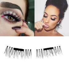 4pcs 3D Magnetic Natural False Eyelashes No Glue Handmade Extension Eye Lashes