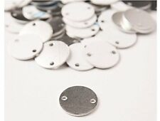 Round with holes 1 1/4 Inch Aluminium 14 Ga Stamping Blank (RMP) [50 pc]