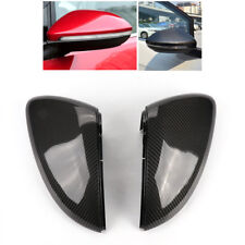 Direct Replace Pair Real Carbon Fiber Rear Mirror Cover for VW Golf MK7 GTI TSI