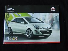 VAUXHALL CORSA 2013 FULL SALES BROCHURE 55 PAGES