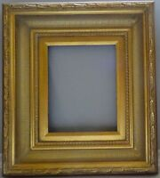 """Laura Hand Crafted Wood Picture/Frame Baroque Scoop-Ribbed W/Gold Liner 9 x 12""""."""