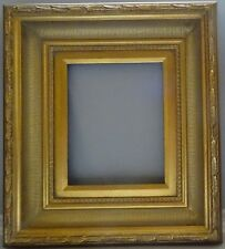 Laura Hand Crafted Wood Picture/Frame Baroque Scoop-Ribbed W/Gold Liner 8 x 10.