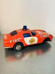 FIRE CHIEF TIN TOY LATTA MACCHININA DAISHIN MADE IN JAPAN PER RICAMBI