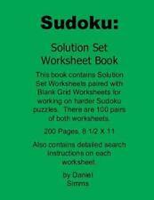 Sudoku Solutions: Sudoku: Solution Set Worksheet Book : For Working on Harder...