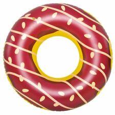 Schwimmring Big Brown Donut XXL Sitzreifen Poolsessel Schwimmsitz Ø 110 x 30 cm