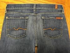 "7 FAM 7 FOR ALL MANKIND ""bootcut"" JEANS HAND MEASURED 32 x 33 Tag 28 BEST A31"