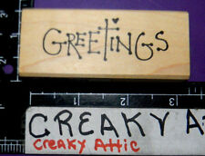 GREETINGS RUBBER STAMP RETIRED