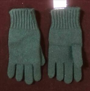 Polo Ralph Lauren Wool / Rabbit Hair Mens Gloves, Green, One Size - NWT