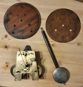 Clocking in clock movement, National Time Recorder Co Ltd, original pendulum etc