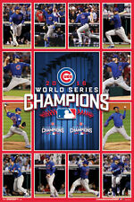 Chicago Cubs 2016 WORLD SERIES CHAMPS GAME 7 HEROES Commemorative Wall POSTER
