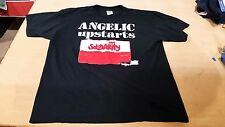 Vintage 2000s Angelic Upstarts Solidarity Punk Rock T Shirt Black