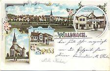 Waldbach - Öhringen, Farb-Litho m. Warengeschäft Wörner, 1900