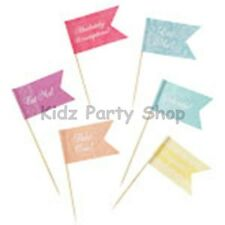 Truly Scrumptious - Vintage Party - 24 Cupcake Food Picks - FREE POSTAGE IN UK