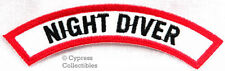 New listing NIGHT DIVER CHEVRON - SCUBA DIVING iron-on DIVE CERTIFICATION PATCH embroidered