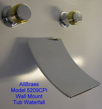WALL MOUNT TUB WATERFALL FAUCET CHROME WITH BRASS TRIM Warranty Free Shipping SN