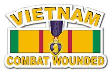 """Purple Heart Vietnam Combat Veteran 10"""" Window Sticker Decal"""